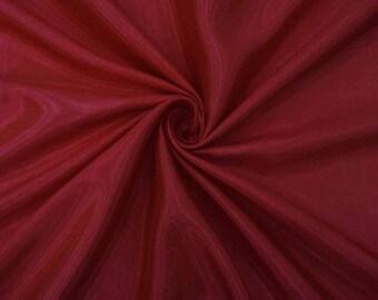 "Indian Shantung Fabric, Maroon Fabric, Dupioni Silk, Dressmaking Fabric, 42"" Inch Home Decor Fabric By The Yard ZSH1C"