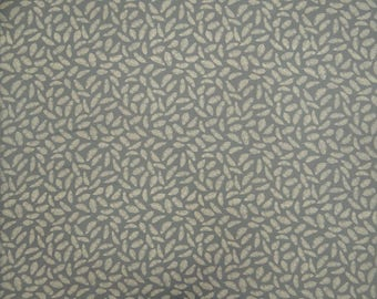 "Decorative Fabric, Sewing Crafts, Grey Fabric, Feather Print, Home Accessories, 44"" Inch Cotton Fabric By The Yard ZBC8869A"