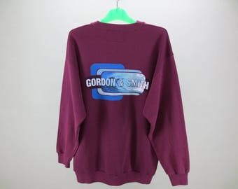 Gordon and Smith Sweatshirt Vintage Gordon and Smith Pullover Gordon and Smith Vintage Pullover Made in USA Mens Size L