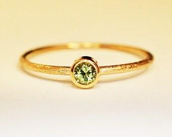 Ring 18 kt Gold Peridot