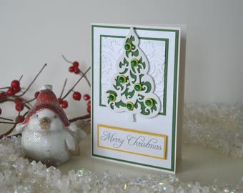 Christmas Day card, Christmas tree card, Merry Christmas cards, Christmas day card, Holiday cards, Green Christmas card, Seasonal cards