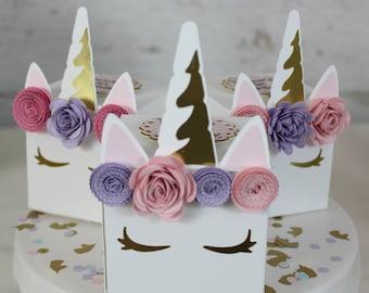 Unicorn Party, Unicorn Favor Box, Unicorn Birthday Party, Unicorn Party Favor, Gold Eyelashes, Unicorn Treat Bags, Unicorn Goodie Bags