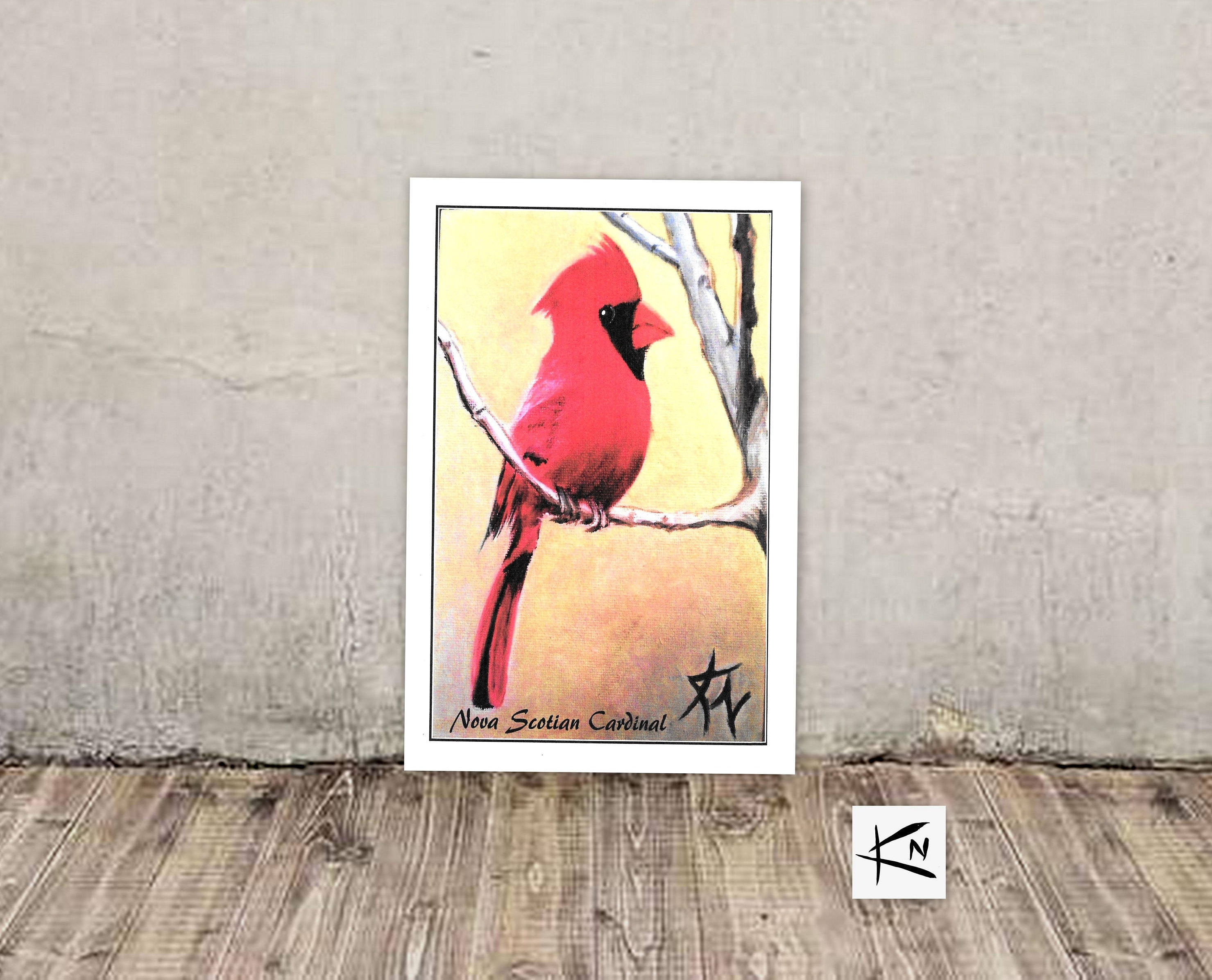 Cardinal Card Blank Greeting Cards Handmade Bird Cards Fine