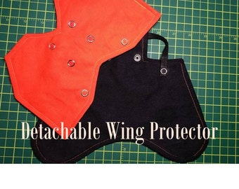 Harvest Orange - TURKEY (also in chicken size) Back Protector Apron/Saddle WITH optional Wing Protectors