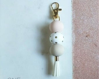 Gold Polymer Clay Keyrings