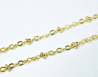 "Gold Filled Chain 18KT Gold Filled Size 17.25"" Long 2mm Width Item #CG201"
