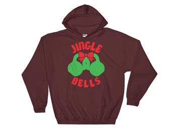 Jingle Bells, Kettlebells, Funny Christmas - Gift For Bodybuilding, Weightlifting, Powerlifting, Crossfit, WOD, Fitness, Workout, Gym Hoodie