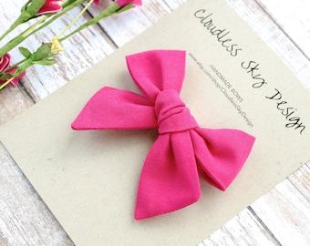 hair bows, pink bow, girls hair bow, school hair bow, hair bow for girls, baby hair bow, fall bow, pink bow clip, tied bow