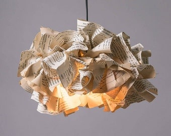 Book Paper Lamp, Light Pendant, Ceiling Light, Pendant lamp, Office Decor