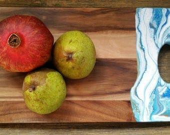 Abstract Art -  Acaciawood serving platter - cheese board
