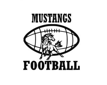 Mustangs Football high school college SVG File Cutting, DXF, EPS design, cutting files for Silhouette Studio and Cricut Design space