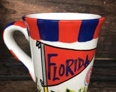 University of Florida, Gators Ceramic Coffee Mug Soy Candle, Hand Poured, Choose Your Scent