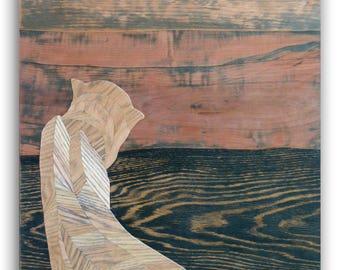 Contemporary Marquetry, Loft Art, Modern Marquetry, Home Decor,Wood Wall Art