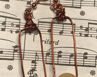 Gifts for Her, Copper Wire Earrings
