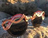 Cat Eye Glasses Custom RAiNBoW  <> SPUNGLASSES <> Hand Wire Art <> Sun Glasses Eyewear Sunnies <> Every Pair is a piece of art FREE Shipping