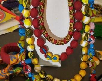 Candy  Statement Ankara Necklace