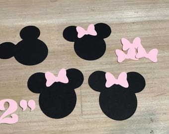 Minnie Mouse Paper Cut-Outs 2 inches, Set of 20