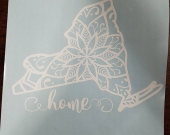 State Decal - Mandala - Home - ALL 50 STATES AVAILABLE