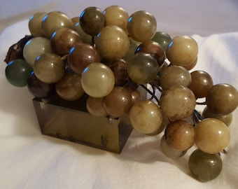 """Chinese Jade Grapes - """"Stone  Altar Fruit"""""""