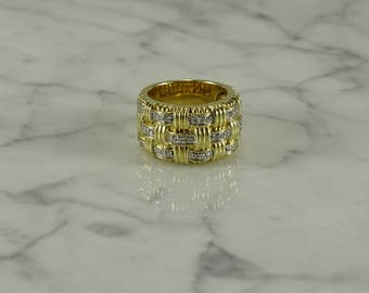 Diamond and 14K Gold Ring (size 6.5)