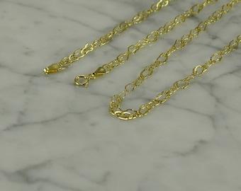 "14K Yellow Gold Neck Chain ( 36"" )"