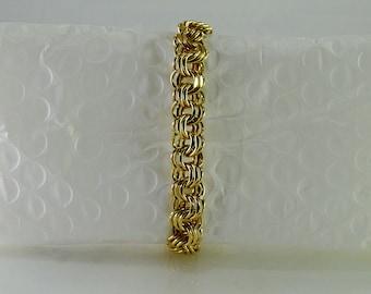 "Mid Century 12K Gold Filled Bracelet 6 7/8"""