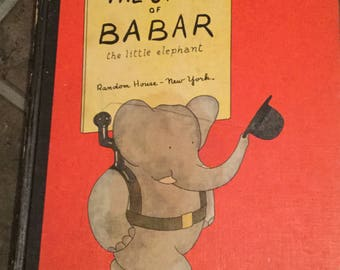The Story Of Babar - Jean De Brunhoff - HC - 1960 ed.