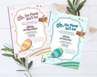 Oh The Places You'll Go baby shower invitation
