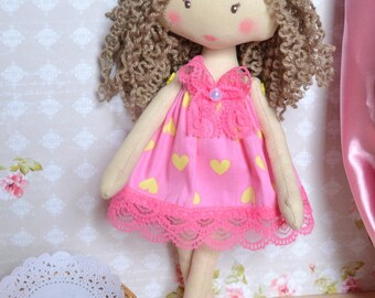 Rag dolls  Doll textile Doll handmade Doll Alice My first  Doll gift  birthday gift  Toy doll