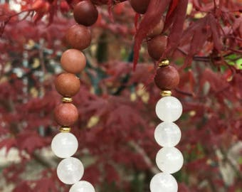 White Jade and African Blood Jasper