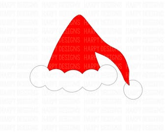 Santa Hat SVG, Christmas SVG, SVG Files, Digital Cut Files, Cricut Cut Files, Silhouette Cut Files
