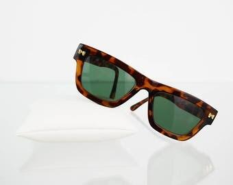 Reddish brown patterned vintage sunglasses