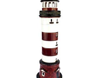 Handmade ceramic lighthouse candle holder - Nida