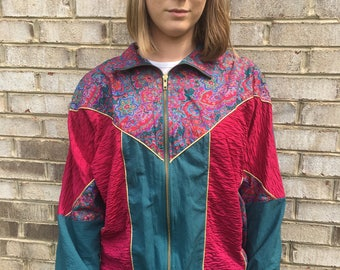 90's Large Windbreaker/Sweater