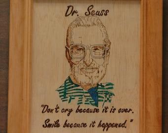 Dr Seuss - portrait and quote