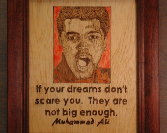Muhammed Ali - portrait and quote