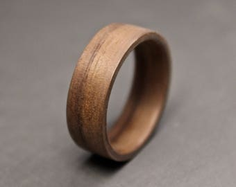 walnut wood ring wooden ring bentwood rings wood wedding bands wooden engagement - Wood Wedding Ring