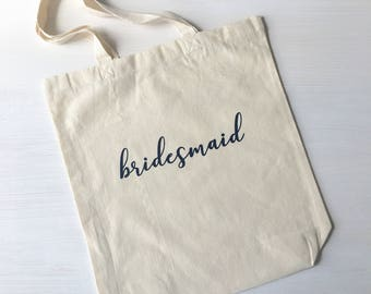 Bridesmaid CUSTOM Bachelorette Tote Bags Wedding Favor Bridal Party Gifts
