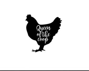 king of the coop chicken farm set svg dxf file instant download stencil silhouette cameo cricut clip art animals commercial use