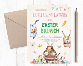Easter Eggstravaganza invitations, Easter Invitations, Easter invites, Easter Brunch Invitations, Easter Egg Hunt invite, Easter party,theme
