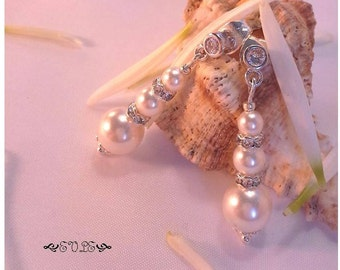 Wedding jewelry, bridal jewelry, Wedding Earrings, Bridal Earrings, Pearl Earrings, Bridal Pearl, Dangle Earrings