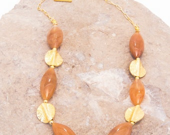 Carmel Rutilated Quartz and Gold Vermeil Necklace