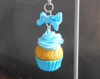Keychain - Cupcake and bows