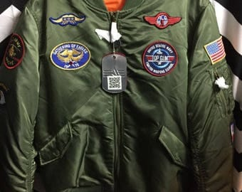 Bomber Jacket W/patches & Lining