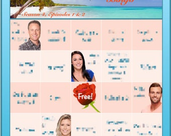 Bachelor in Paradise Bingo Boards - Season 4