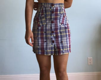 Vintage S/M ESPRIT button up skirt