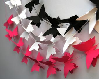 Butterfly party decorations,Butterfly garland, Butterfly backdrop, Butterfly decoration, Butterfly wall art, Butterfly party banner