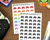 Gaming Controllers - Gamer Nerdy Geeky PC Console - Planner Stickers (F0041)