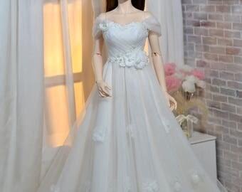 Flower Blossom Wedding Dress for Iplehouse SID, EID BJD