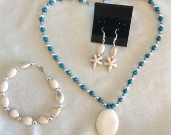 Necklace ,earrings and bracelet set